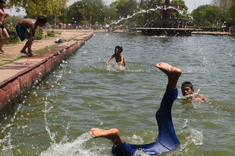 Temperatures tend to rise quickly ahead of the monsoon rains; this pre-monsoon heat has come early. [AFP]