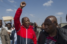 Julius Malema in Marikana, South Africa, 2012 [Al Jazeera]