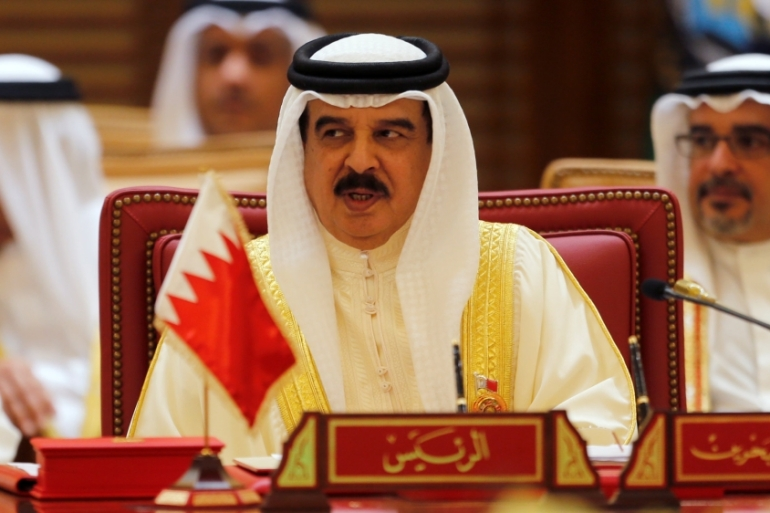 Bahrain's King Hamad bin Isa al-Khalifa joined the blockade on Qatar along with other Gulf nations [Hamad I Mohammed/Reuters]