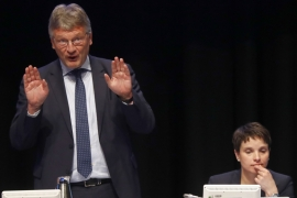 AfD co-leader Joerg Meuthen warned that Germany risked becoming a Muslim-dominated country [Reuters]