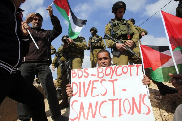 The alleged distortion of the definition has been used by Israel lobby groups to disrupt the activities of the Boycott, Divestment, Sanctions movement around the world by claiming that a boycott of Israel is anti-Semitic [File: Abed Al Hashlampun/EPA]