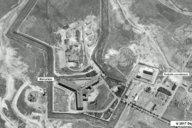 A satellite view of the Sednaya prison complex near Damascus seen in this image provided by the US State Department on May 15, 2017 [File: Department of State/Handout via Reuters]