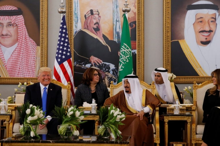 Trump will meet more than 50 Arab and Muslim leaders on Sunday to discuss the battle against 'terrorism' [Jonathan Ernst/Reuters]