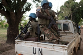 United Nations peacekeeping soldiers have struggled to mediate in conflicts between rival armed groups in the Central African Republic [File: Baz Ratner/Reuters]