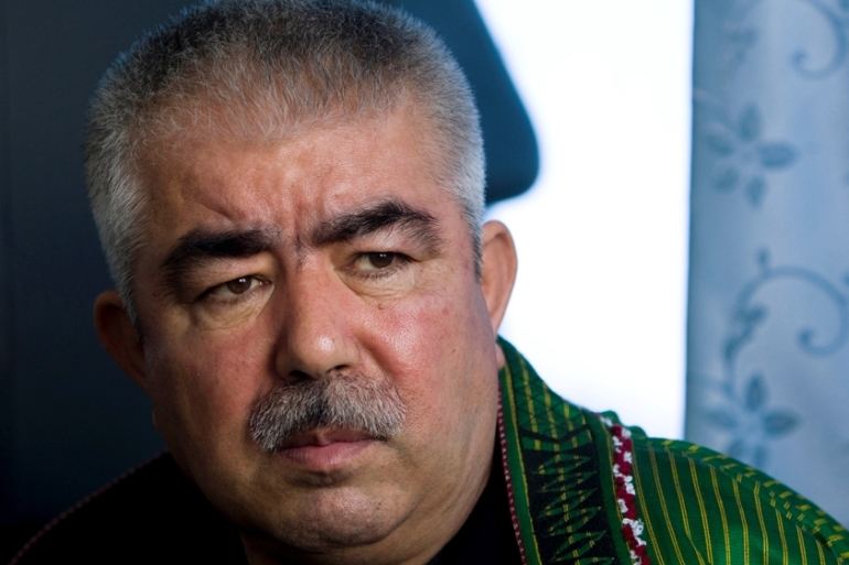 Dostum flew to Turkey after he was accused of ordering the detention and torture of a rival [Reuters]