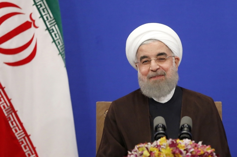 Rouhani said Iran could quit the 2015 agreement within hours [File:AFP]