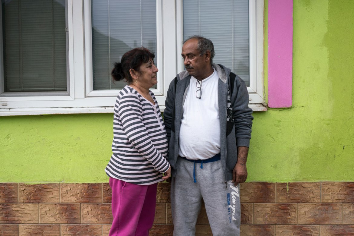 Jan Carny, 58, and his wife Darina say they would starve if it weren't for the welfare cheques they receive. [Sorin Furcoi/Al Jazeera]