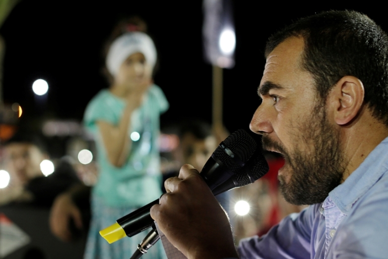 Nasser Zefzafi is a leader of a movement demanding economic development for the Rif region [Youssef Boudlal/Reuters]