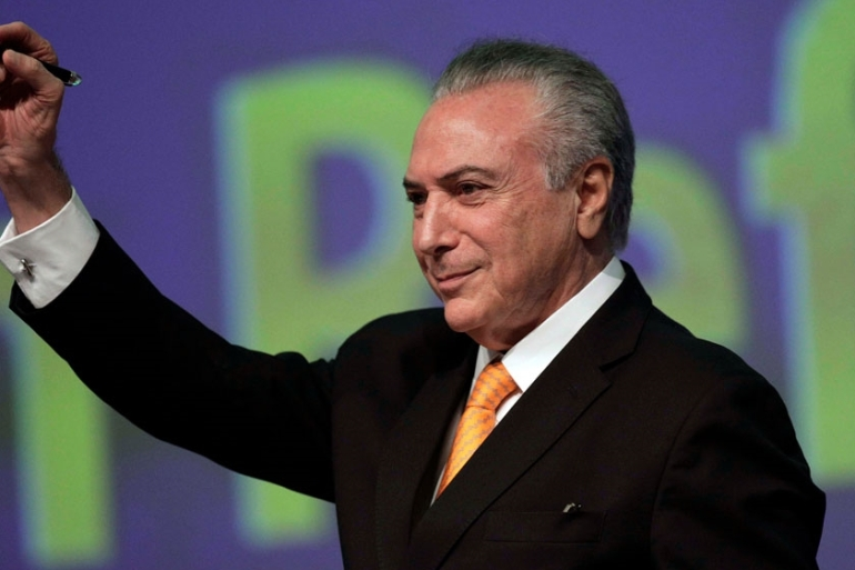 Temer took office last year after the impeachement of ex-President Dilma Rousseff [File: Ueslei Marcelino/Reuters]