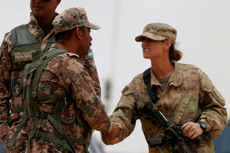 salida online desigual en el rendimiento zapatos elegantes Jordan, US launch Eager Lion military exercise | Middle East | Al Jazeera