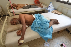Hospitals in the Red Sea port city of Hodeidah treated scores of cholera patients [Abduljabbar Zeyad/Reuters]