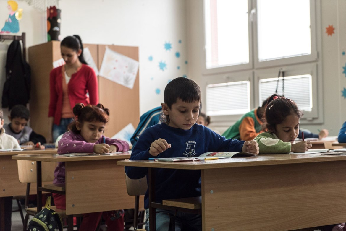 According to a recent report by the ERRC and Amnesty International, Roma students endure segregation and racism in public schools, trapping them in a 'cycle of poverty and marginalisation'. [Sorin Furcoi/Al Jazeera]