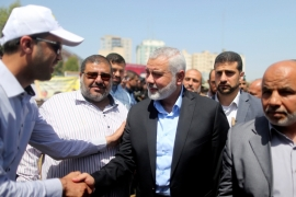 The presence of the movement's leaders in Gaza after the recent internal elections gives Hamas a margin it can rely on to circumvent the current crisis [Reuters]