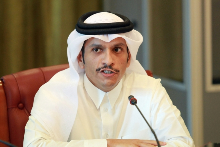Sheikh Mohammed bin Abdulrahman Al Thani said the future of Al Jazeera Media Network is an internal affair [Naseem Zeitoon/Reuters]