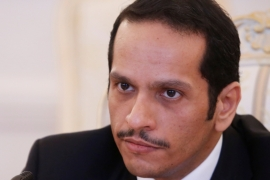 Qatar's foreign minister has been holding a series of key meetings in Washington [File: Maxim Shemetov/Reuters]