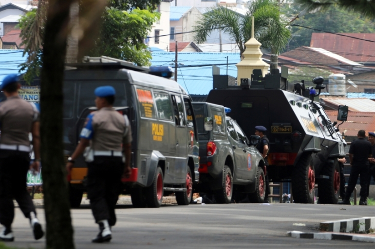 Indonesia has long struggled with political violence [Irsan Mulyadi/via Reuters]