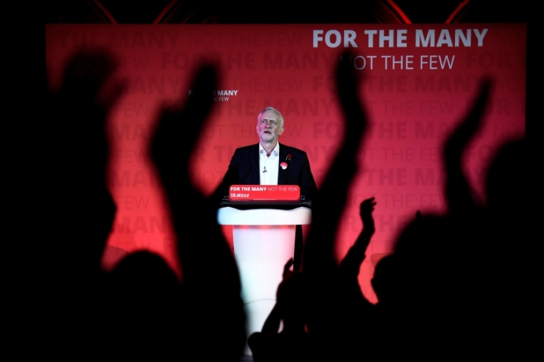 For progressives, the Labour party under Corbyn has shown how to regain political relevance, writes Shabi [Clodagh Kilcoyne/Reuters]