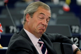 The Guardian report says Farage is not an investigation suspect [File: Vincent Kessler/Reuters]