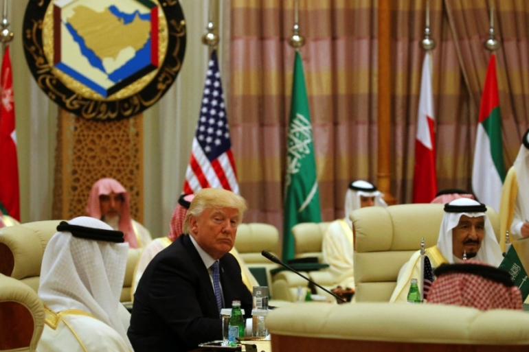 Considering his tendency to value money above principle and all else, the US president was clearly 'bribed' by his Saudi hosts during his visit to the country, writes Bishara [Reuters]