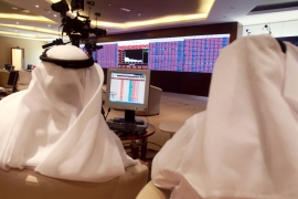 Qatar's stock market plunged 7.6 percent on Monday morning [Reuters]