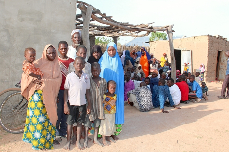 Families in villages and towns in Nigeria's north have given refuge to and welcomed people fleeing Boko Haram violence [Femke van Zeijl/Al Jazeera]