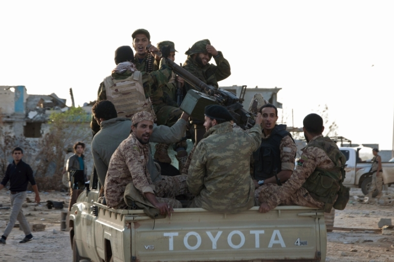 General Haftar's forces have gained control in much of Libya's east, with backing from the UAE and Egypt [File: Reuters]