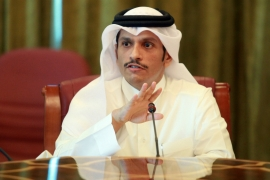 Mohammed bin Abdulrahman: 'There cannot ever be a military solution to this problem' [AP]