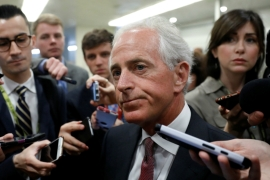 Senator Bob Corker is pressing for a clear strategy on how to deal with the crisis in the Gulf [File: Aaron P Bernstein/Reuters]