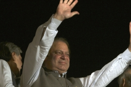Pakistan's Nawaz Sharif stepped down as PM after the Supreme Court disqualified him [The Associated Press]