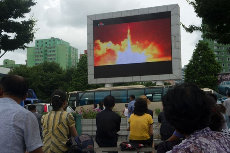 Pyongyang launched its first intercontinental ballistic missile on July 4 [File: Kim Won-Jin/AFP]