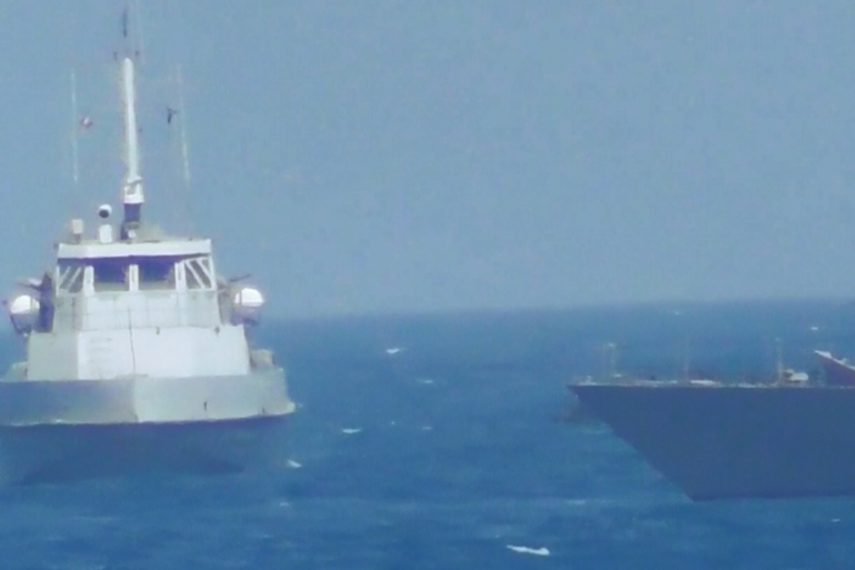 Iran's Islamic Revolutionary Guard Corps (IRGC) blamed the US ship for provoking the incident [Reuters]