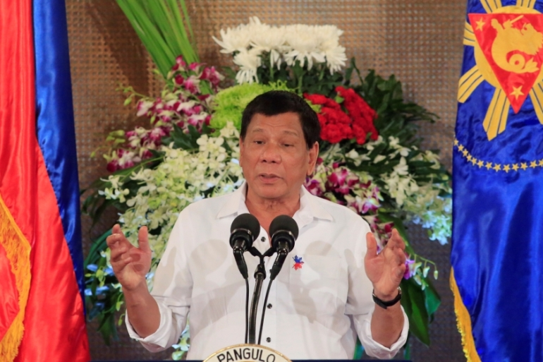 Duterte declared military rule across the southern Mindanao region in late May [Romeo Ranoco/Reuters]
