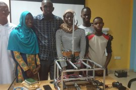 The team built the robot during rigorous seven-hour shifts throughout Ramadan [Moctar Darboe/Al Jazeera]