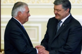 Tillerson says primary US goal is to restore Ukraine's territorial integrity [Reuters]