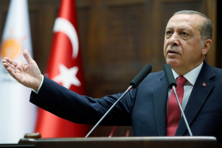 "Erdogan hit back at the allegations in June, accusing US police of having allowed ""terrorists"" to protest [File: AFP]"