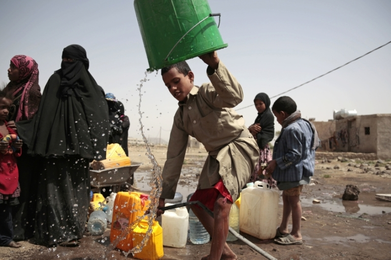 Every day 5,000 new suspected cases of cholera are registered in Yemen [Hani Mohammed/AP]