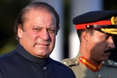 Former Prime Minister Nawaz Sharif led a frontal attack on the powerful military [File: Aamir Qureshi/AFP]