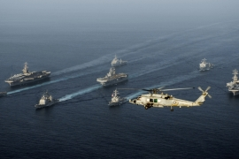 Iranian forces view the US presence in the Gulf as a provocation [US Navy handout/AFP]