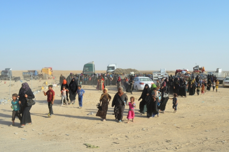 Thousands of civilians have been displaced by fighting and forced to live in IDP camps across Iraq [File: Reuters]