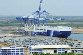 Sri Lanka is selling a 70 percent stake to China Merchants Ports Holdings for $1.12bn [Lakruwan Wanniarachchi/AFP]