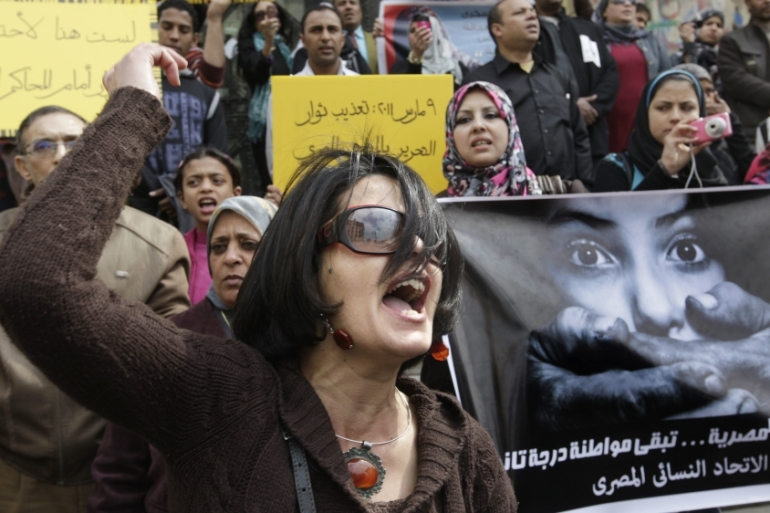 Polls have found that most men and women in Egypt believe harassment is justified if women dress 'provocatively' [AP]