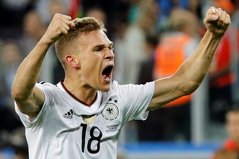 Germany's Joshua Kimmich celebrates winning the 2017 FIFA Confederations Cup in Russia [Darren Staples/Reuters]