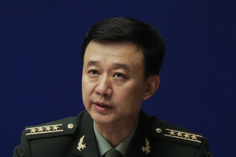 Colonel Wu Qian warned New Delhi not 'to push your luck' [Andy Wong/AP]