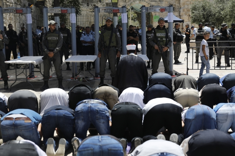 Palestinians fear Israel is trying to retake the holy site of al-Aqsa by stealth [EPA]