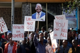 Presidential candidate Raila Odinga alleges there were irregularities in the August 8 presidential vote [Baz Ratner/Reuters]