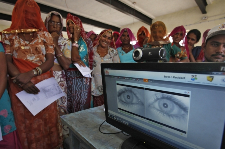 Activists argue that Aadhaar, which has the fingerprints and iris scans of more than one billion Indians, violates their privacy [Mansi Thapliyal/[Reuters]