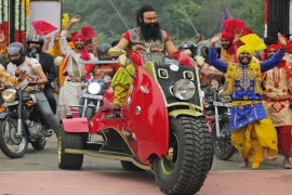 Singh, who is popularly known as Ram Rahim, is now in jail, awaiting sentencing on Monday [File: AP]