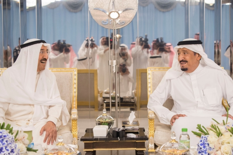 Kuwait's emir, Sheikh Sabah Al-Sabah, enjoys strong relations with both Saudi Arabia and Qatar [Reuters]