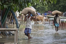 The death toll from flooding in South Asia is continuing to rise. [Anupam Nath/AP]