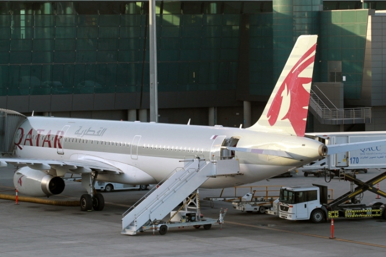As part of the Gulf blockade, airspace for all Qatari-registered aircraft were restricted [File: Reuters]
